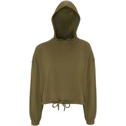 Textiel Dames Sweaters / Sweatshirts Tridri TR085 Olijfgroen