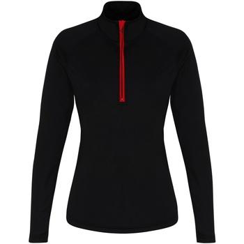Textiel Dames T-shirts met lange mouwen Tridri TR120 Zwart/Rood