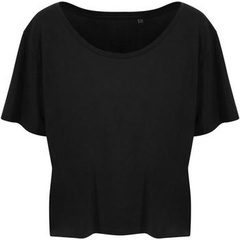 Textiel Dames T-shirts korte mouwen Ecologie EA02F Jet Zwart