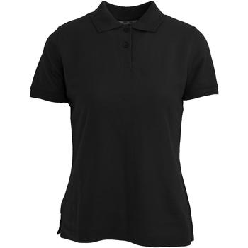 Textiel Dames Polo's korte mouwen Absolute Apparel  Zwart
