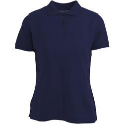 Textiel Dames Polo's korte mouwen Absolute Apparel  Marine