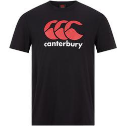 Textiel Heren T-shirts korte mouwen Canterbury  Zwart/Wit/Rood
