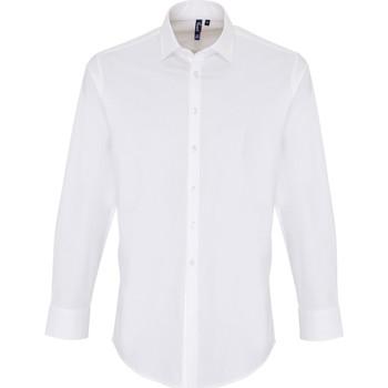 Textiel Heren Overhemden lange mouwen Premier PR244 Wit