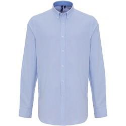 Textiel Heren Overhemden lange mouwen Premier PR238 Wit/lichtblauw