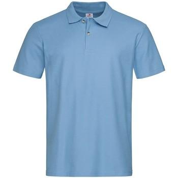 Textiel Heren Polo's korte mouwen Stedman  Lichtblauw
