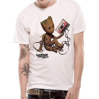 Textiel T-shirts & Polo's Guardians Of The Galaxy 2  Wit