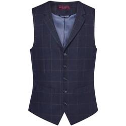 Textiel Heren Gilets Brook Taverner BR180 Navy Check