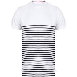 Textiel T-shirts & Polo's Front Row FR135 Wit/Zwaar
