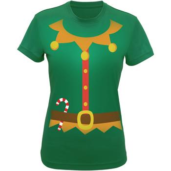 Textiel Dames T-shirts & Polo's Christmas Shop CS143 Groen