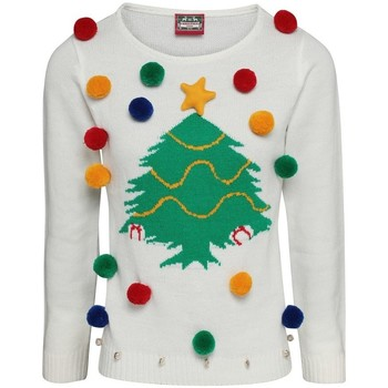 Textiel Dames Sweaters / Sweatshirts Christmas Shop CJ102 Wit