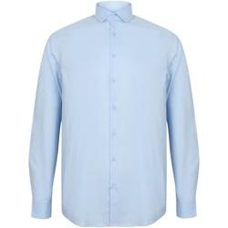 Textiel Heren Overhemden lange mouwen Henbury HB532 Lichtblauw