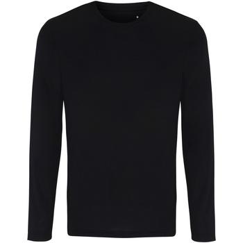 Textiel Heren T-shirts met lange mouwen Tridri TR050 Zwart