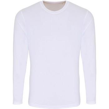 Textiel Heren T-shirts met lange mouwen Tridri TR050 Wit