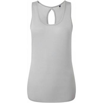 Textiel Dames Mouwloze tops Tridri TR044 Koel Grijs