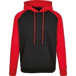 Textiel Heren Sweaters / Sweatshirts Build Your Brand BB005 Zwart/Rood