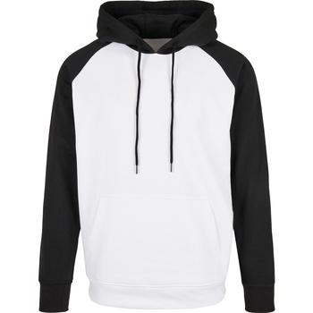 Textiel Heren Sweaters / Sweatshirts Build Your Brand BB005 Wit/zwart