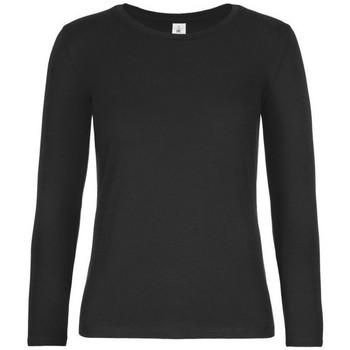 Textiel Dames T-shirts met lange mouwen B And C TW08T Zwart