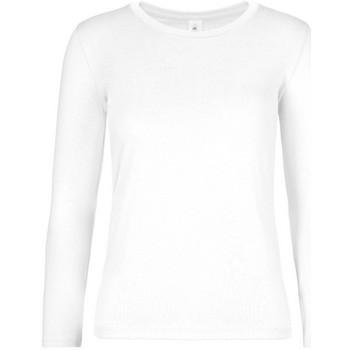 Textiel Dames T-shirts met lange mouwen B And C TW08T Wit