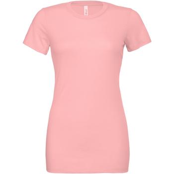 Textiel Dames T-shirts & Polo's Bella + Canvas BE6400 Roze
