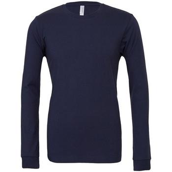 Textiel T-shirts met lange mouwen Bella + Canvas CA3501 Marine