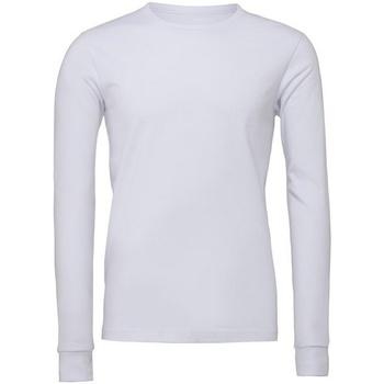Textiel T-shirts met lange mouwen Bella + Canvas CA3501 Wit
