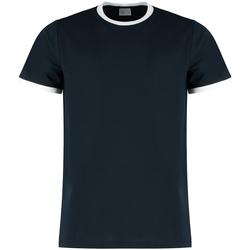 Textiel Heren T-shirts & Polo's Kustom Kit KK508 Marine / Wit