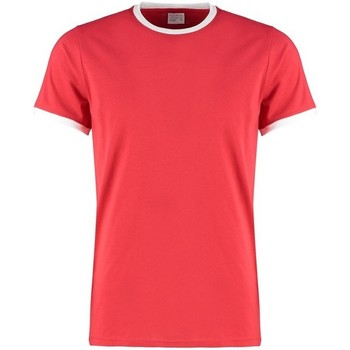 Textiel Heren T-shirts & Polo's Kustom Kit KK508 Rood/Wit