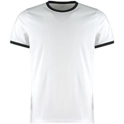 Textiel Heren T-shirts & Polo's Kustom Kit KK508 Wit/zwart