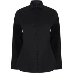 Textiel Dames Overhemden Henbury HB533 Zwart