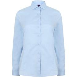 Textiel Dames Overhemden Henbury HB533 Lichtblauw