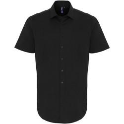 Textiel Heren Overhemden korte mouwen Premier PR246 Zwart