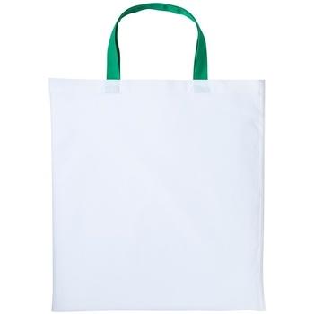 Tassen Handtassen kort hengsel Nutshell RL130 Wit/Kelly Groen