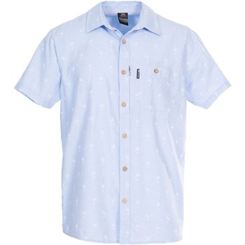 Textiel Heren Overhemden korte mouwen Trespass  Lichtblauw