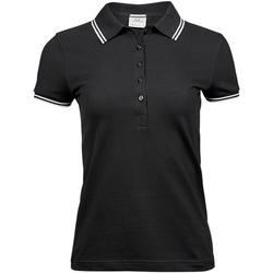 Textiel Dames Polo's korte mouwen Tee Jays TJ1408 Zwart/Wit