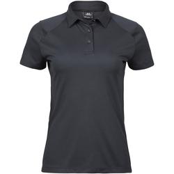 Textiel Dames Polo's korte mouwen Tee Jays TJ7201 Donkergrijs
