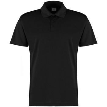 Textiel Heren Polo's korte mouwen Kustom Kit KK455 Zwart