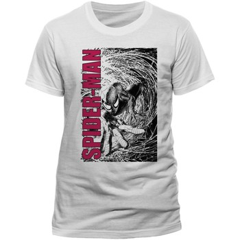 Textiel T-shirts korte mouwen Spiderman  Wit