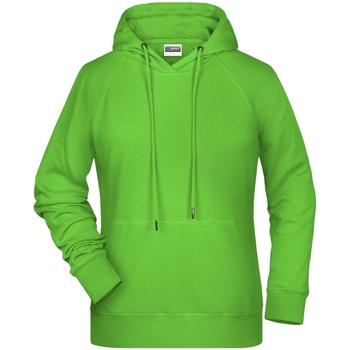 Textiel Dames Sweaters / Sweatshirts James And Nicholson  Kalk groen