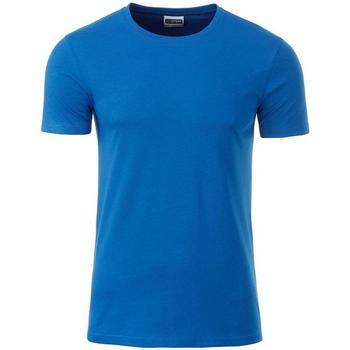 Textiel Heren T-shirts korte mouwen James And Nicholson  Blauw