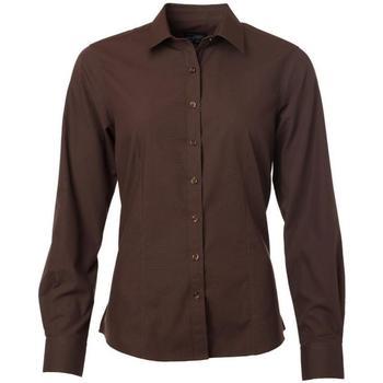 Textiel Dames Overhemden James And Nicholson  Bruin