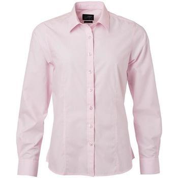 Textiel Dames Overhemden James And Nicholson  Lichtroze
