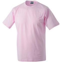 Textiel T-shirts korte mouwen James And Nicholson  Lichtroze