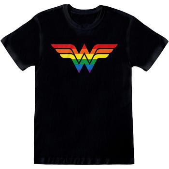 Textiel T-shirts korte mouwen Wonder Woman  Zwart