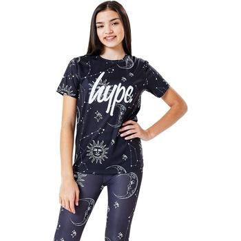 Textiel Kinderen T-shirts korte mouwen Hype  Zwart/Wit