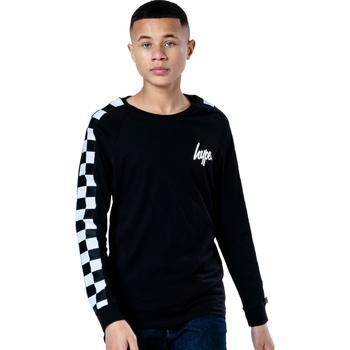 Textiel Kinderen T-shirts met lange mouwen Hype  Zwart/Wit