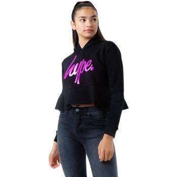 Textiel Meisjes Sweaters / Sweatshirts Hype  Zwart/roze