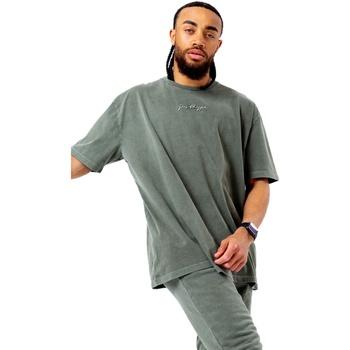 Textiel Heren T-shirts korte mouwen Hype  Khaki