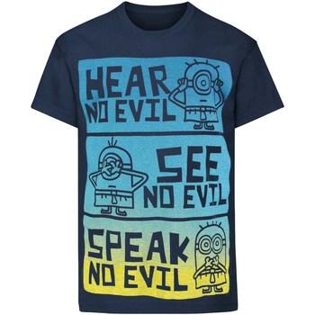 Textiel Kinderen T-shirts korte mouwen Minions  Blauw