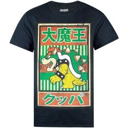 Textiel Heren T-shirts korte mouwen Super Mario  Zwart