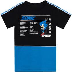 Textiel Jongens T-shirts korte mouwen Sonic The Hedgehog  Zwart/Blauw/Wit